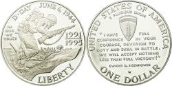 Us Coins - Coin, United States, Dollar, 1993, U.S. Mint, West Point, , Silver, KM:244