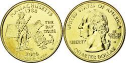 Us Coins - Coin, United States, Massachusetts, Quarter, 2000, U.S. Mint, , Gold