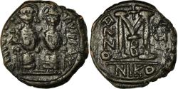 Ancient Coins - Coin, Justin II, Follis, 570-571, Nicomedia, , Copper, Sear:369