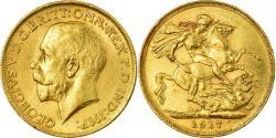 World Coins - Coin, Australia, George V, Sovereign, 1917, Sydney, , Gold, KM:29