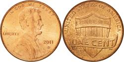 Us Coins - Coin, United States, Lincoln - Shield Reverse, Cent, 2011, U.S. Mint, Denver