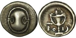 Ancient Coins - Coin, Boeotia, Thebes, Hemidrachm, Thebes, EF(40-45), Silver, SNG Cop:176-177