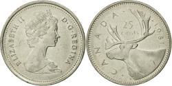 World Coins - Coin, Canada, Elizabeth II, 25 Cents, 1981, Royal Canadian Mint, Ottawa