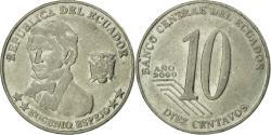 World Coins - Coin, Ecuador, 10 Centavos, Diez, 2000, , Steel, KM:106