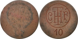 World Coins - France, 10 Centimes, , Copper, Elie #C670.2, 3.85