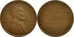 Us Coins - United States, Lincoln Cent, Cent, 1942, U.S. Mint, Philadelphia,