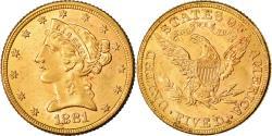 Us Coins - Coin, United States, Coronet Head, $5, Half Eagle, 1881, U.S. Mint