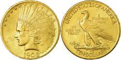 Us Coins - Coin, United States, Indian Head, $10, Eagle, 1908, U.S. Mint, Philadelphia