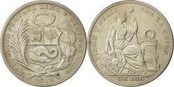 World Coins - Coin, Peru, Sol, 1923, Philadelphia, EF(40-45), Silver, KM:218.1