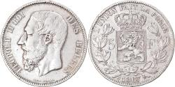 World Coins - Coin, Belgium, Leopold II, 5 Francs, 5 Frank, 1867, , Silver, KM:24