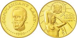 World Coins - Coin, Chad, 1000 Francs, Undated (1970), MS(63), Gold, KM:8