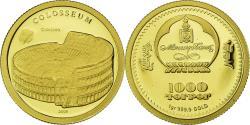 World Coins - Coin, Mongolia, Colisée, 1000 Togrog, 2008, , Gold
