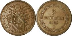 World Coins - Coin, ITALIAN STATES, PAPAL STATES, Pius IX, 5 Baiocchi, 1854, Roma,