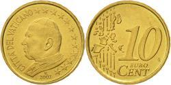 World Coins - VATICAN CITY, 10 Euro Cent, 2002, , Brass, KM:344