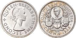 World Coins - Coin, Southern Rhodesia, Elizabeth II, Crown, 1953, British Royal Mint,