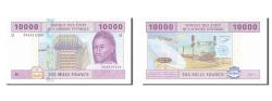 World Coins - Central African States, 10,000 Francs, 2002, KM #210U, UNC(65-70), U 384913304