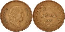 World Coins - JORDAN, 5 Fils, 1/2 Qirsh, 1978, KM #36, , Bronze, 21, 4.47