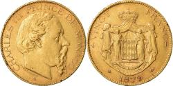 Ancient Coins - Coin, Monaco, Charles III, 20 Francs, Vingt, 1879, Paris, , Gold, KM:98