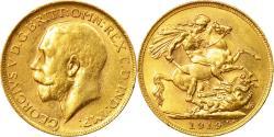 World Coins - Coin, Australia, George V, Sovereign, 1919, Perth, , Gold, KM:29