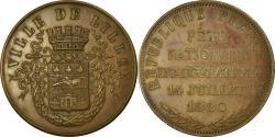 World Coins - France, Medal, Fête Nationale Inauguration 14 Juillet, Lille, 1880,