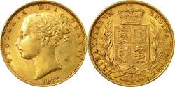World Coins - Coin, Australia, Elizabeth II, Sovereign, 1877, Sydney, , Gold, KM:6