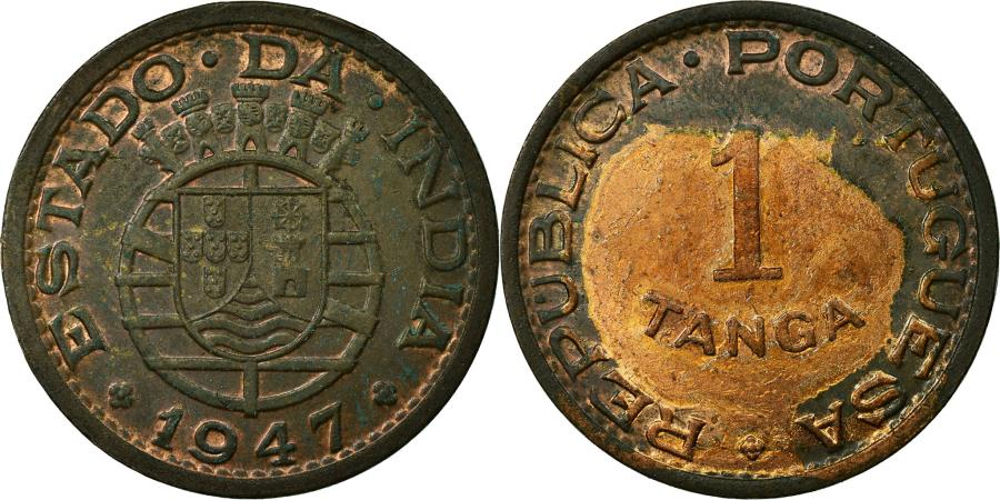 World Coins - Coin, INDIA-PORTUGUESE, Tanga, 60 Reis, 1947, , Bronze, KM:24