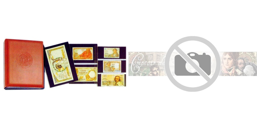 World Coins - Album, Louis, Banknotes, Dark brown, with 10 pages, Safe:1279