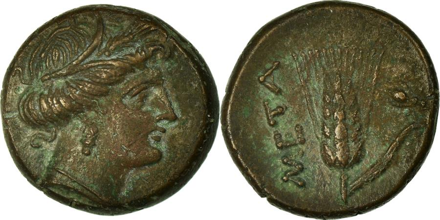 Ancient Coins - Coin, Lucania, Metapontion, Bronze, Metapontion, AU(55-58), Bronze