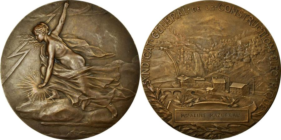 World Coins - France, Medal, Syndicat Général de la Construction Electrique, Pillet