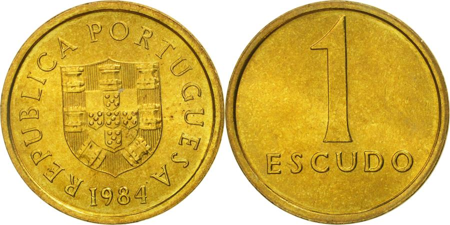 World Coins - Portugal, Escudo, 1984, , Nickel-brass, KM:614