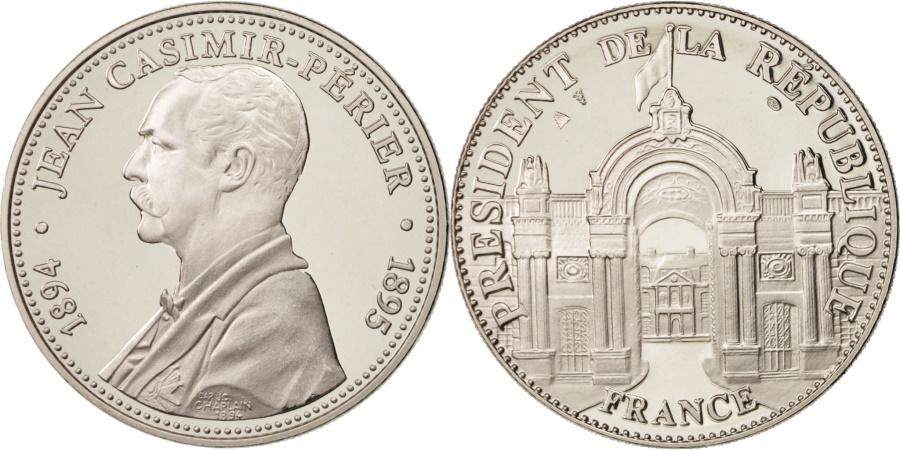 World Coins - France, Medal, Les Présidents de la République, Jean Casimir-Périer, French
