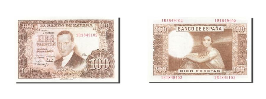 World Coins - Spain, 100 Pesetas, 1953, KM:145a, 1953-04-07, UNC(63)