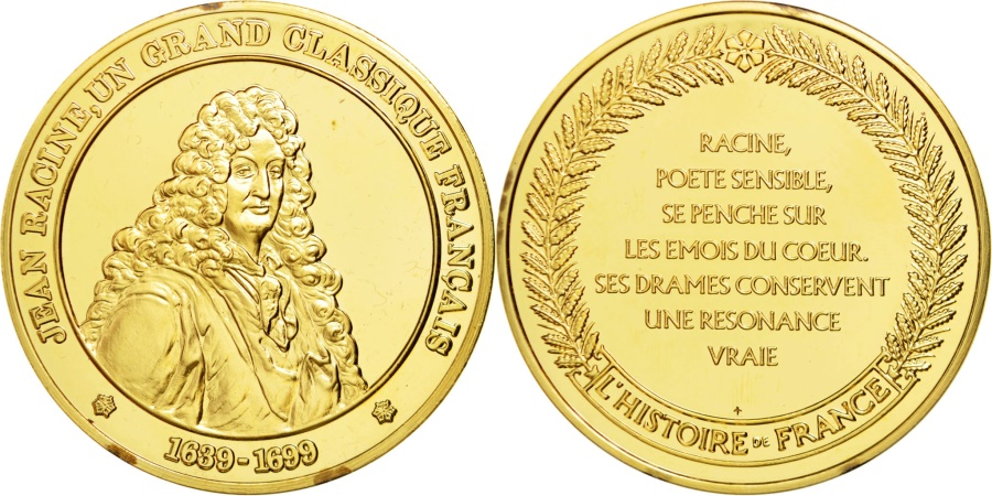 World Coins - FRANCE, Arts & Culture, Louis XIV, Medal, , Vermeil, 44, 37.50