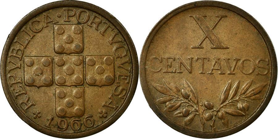 World Coins - Coin, Portugal, 10 Centavos, 1966, , Bronze, KM:583