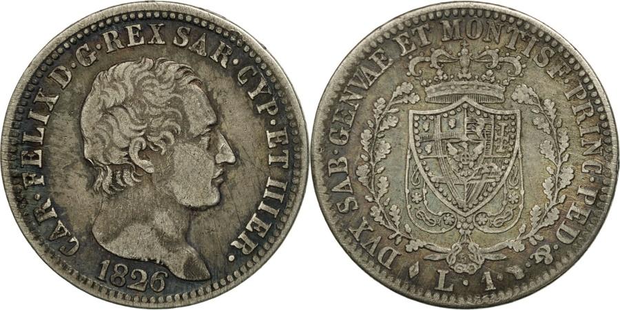 Italian states sardinia carlo felice lira 1826 torino for Coin torino