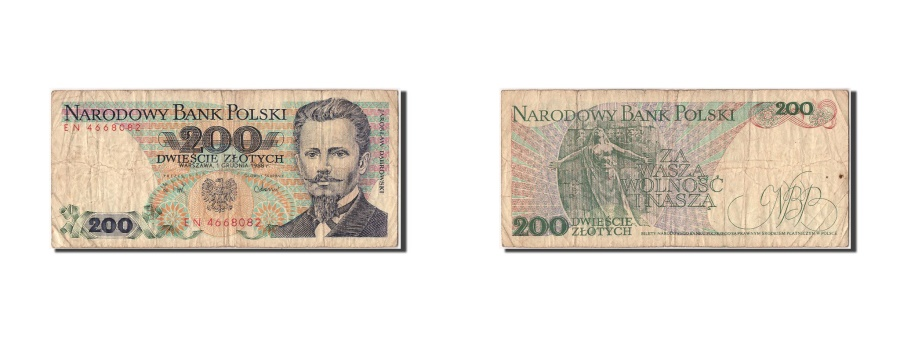 World Coins - Poland, 200 Zlotych, 1988, KM #144c, 1988-12-01, VF(30-35), EN 4668082