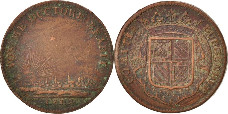 World Coins - France, Token, Etats de Bourgogne, 1719, , Copper, Feuardent:9834