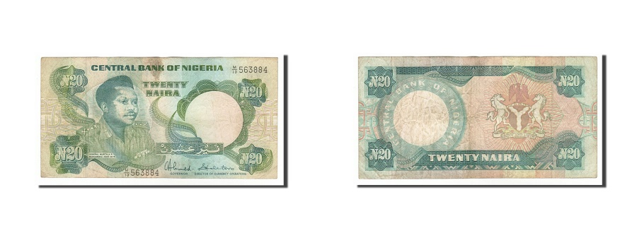 World Coins - Nigeria, 20 Naira, 1984, KM #26c, VF(30-35), M/13