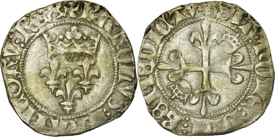 World Coins - Coin, France, Gros, Troyes, EF(40-45), Billon, Duplessy:405A