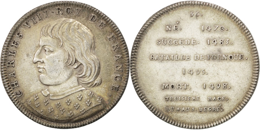 World Coins - FRANCE, History, Charles VIII, Medal, , Silver, 5, 13.35