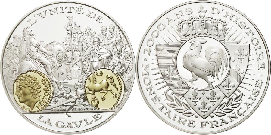 World Coins - France, Medal, L'Unité de la Gaule, Statère, MS(65-70), Silver