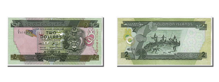 World Coins - Solomon Islands, 2 Dollars, 2011, KM #18, UNC(65-70), C/8 014959
