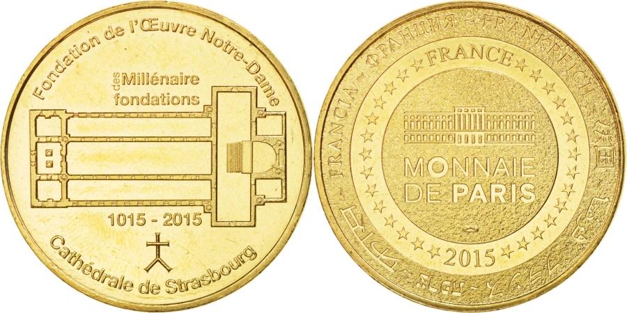 World Coins - France, Tourist Token, 67/ Millénaire des Fondations, 2015, MDP