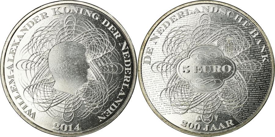 World Coins - Netherlands, 5 Euro, 2014, , Silver, KM:354