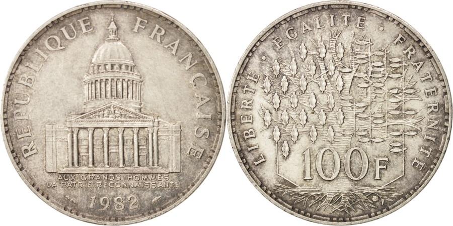 World Coins - France, Panthéon, 100 Francs, 1982, Paris, , Silver,KM:951.1,Gadoury898