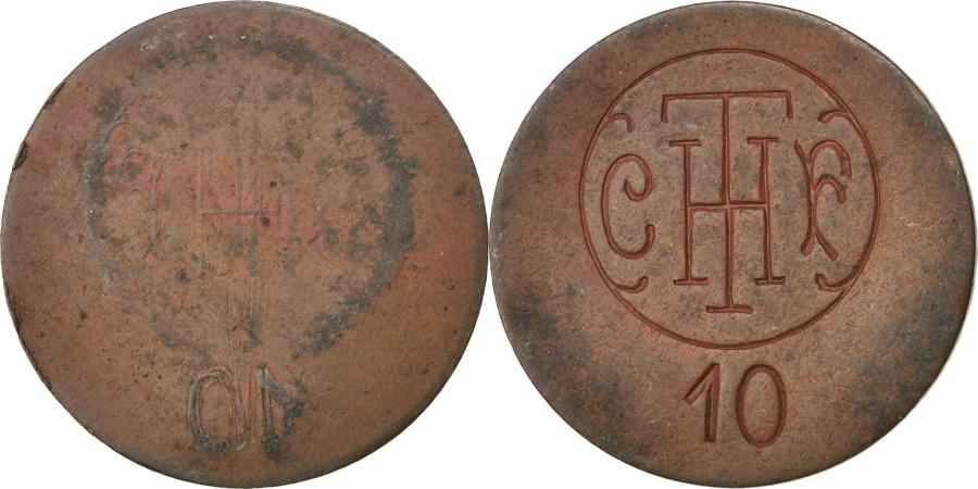 World Coins - France, 10 Centimes, , Copper, Elie #C670.2, 3.85