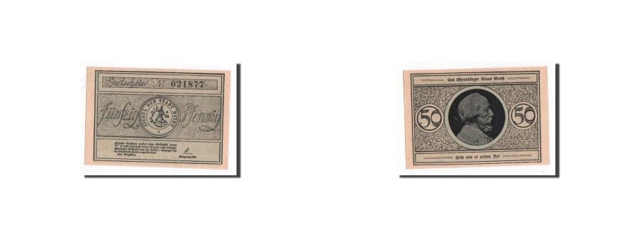 World Coins - Germany, Heide, 50 Pfennig, personnage, Undated, UNC(65-70), Mehl:588.1a