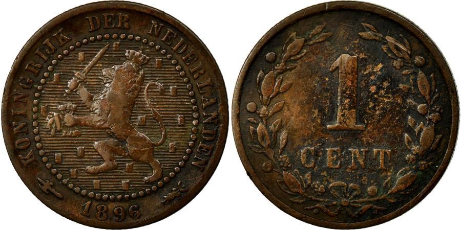 World Coins - Coin, Netherlands, Wilhelmina I, Cent, 1896, VF(30-35), Bronze, KM:107.2