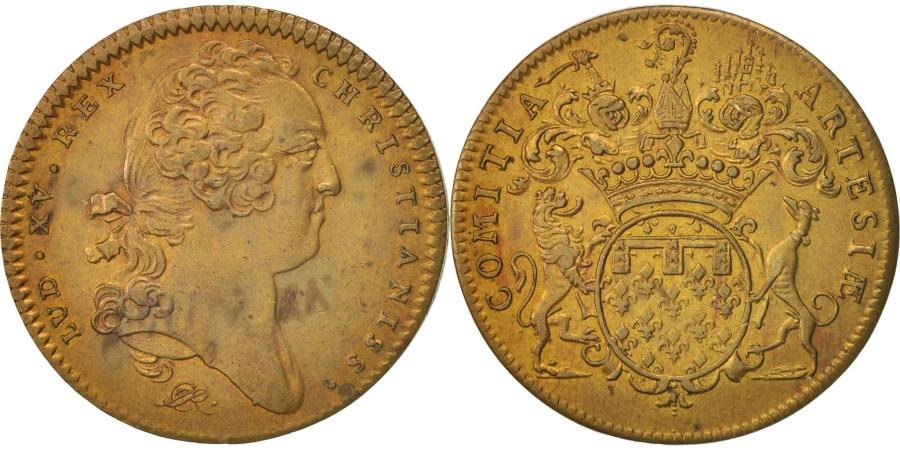 World Coins - France, Token, Royal, États d'Artois, Louis XV, , Brass