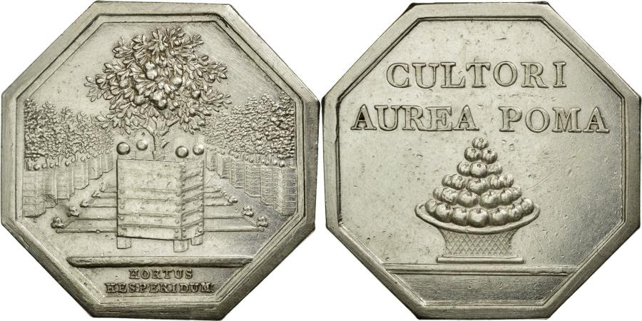 World Coins - France, Token, Agriculture and Horticulture, AU(55-58), Silver